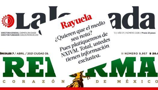 Ayer Reforma atacó a La Jornada; hoy La Jornada se acabó al Reforma