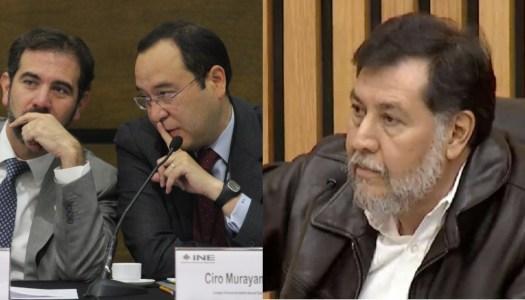 Noroña acusa al INE de sabotear consulta popular contra ex presidentes