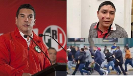 PRI se desmorona; militantes se agarran a golpes y exigen renuncia de Alito