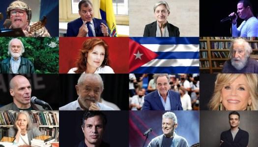 """""""Cuba sí, bloqueo no"""", exigen académicos, activistas y famosos a Biden"""