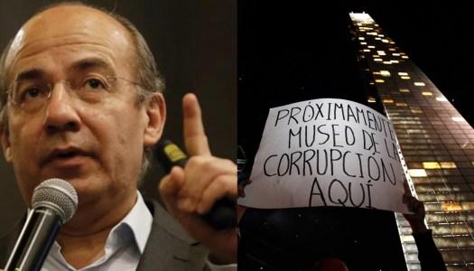 Felipe Calderón y la corrupción detrás de la Estela de Luz