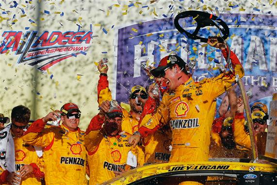 Logano advances with win at Talladega; Chase field cut to eight
