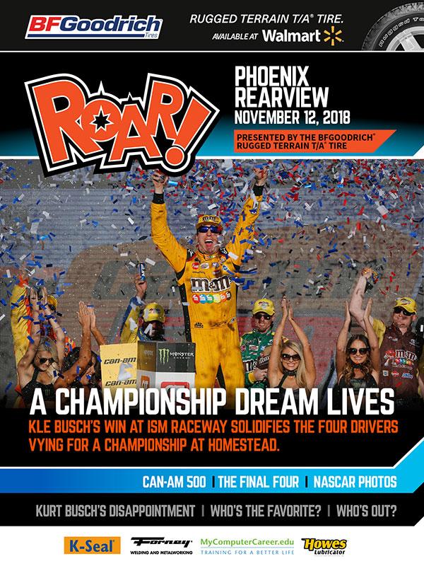 ROAR! Phoenix Race Weekend Rearview November 2018