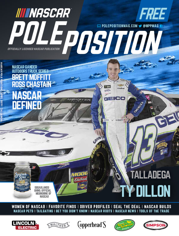 NASCAR Pole Position Talladega in April 2019