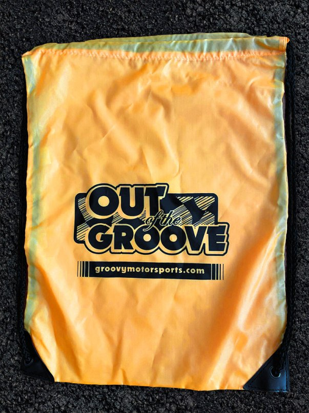 Out of the Groove Drawstring Bag