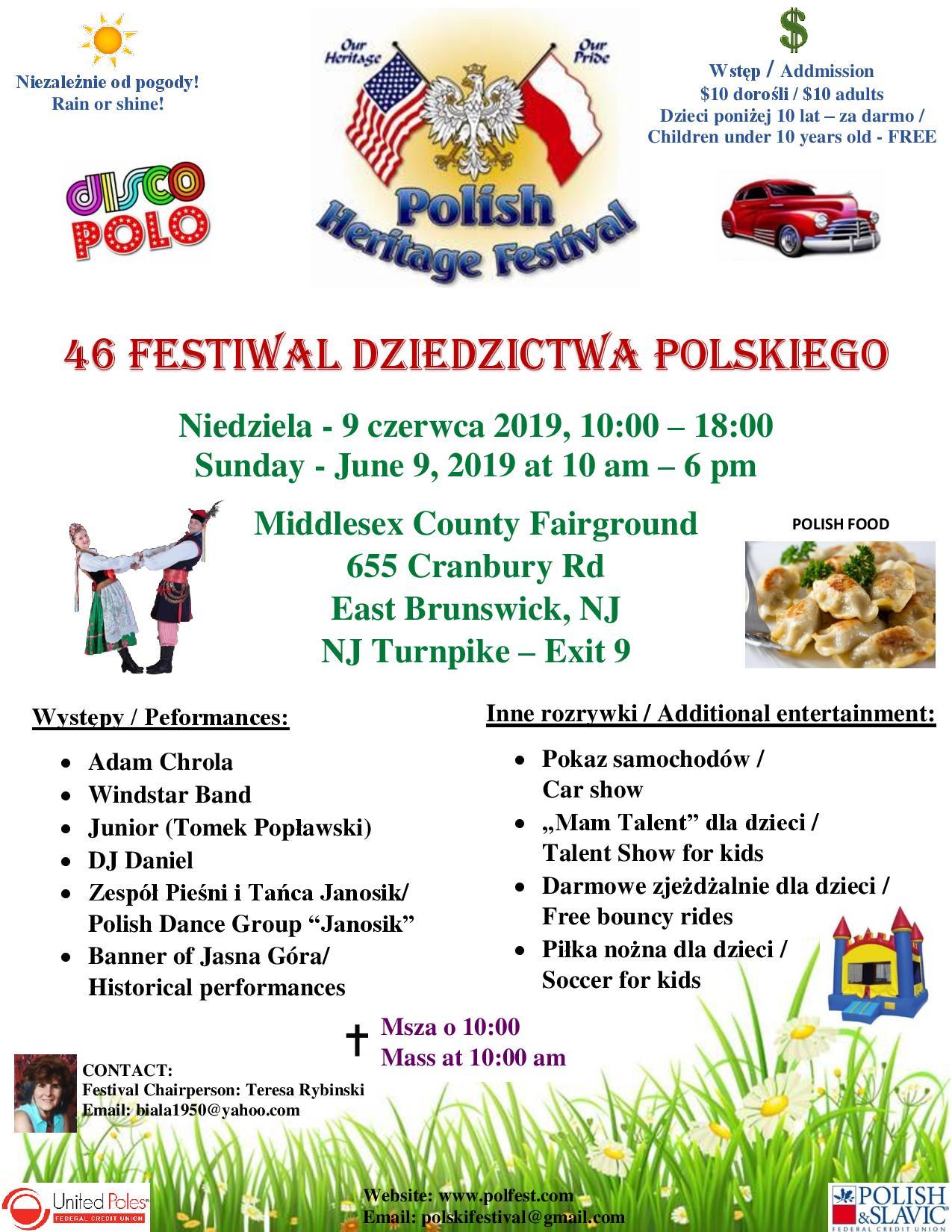 Polish Heritage Festival June 9th East Brunswick Nj