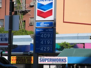 Price of gas in Los Angeles on February 26, 2010
