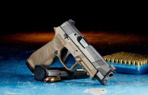 Pistole mit Magazin und Munition