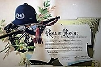 Roll of Honor lithograph awarded to Cincinnati Patrolman William Burke in November 1890