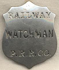 Badge similar to that possibly worn by Night Watchman Lewis