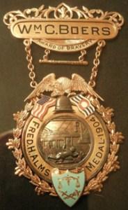 Patrolman Boers' Gold Medal