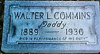 Patrolman Walter L. Commins' grave site