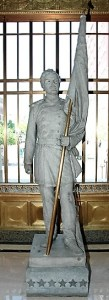 Captain Desmond's Statue in the Hamilton County Court House