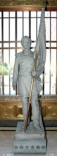 Captain Desmond's Statue in the Hamilton County Court House