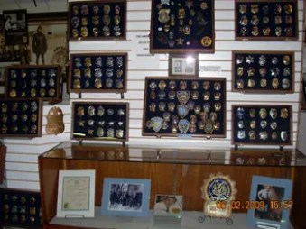 The Museum houses the largest American Detective Badge collection in the nation; and probably the world.