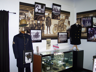 Three of the departments represented in the Museum including the state patrols in Indiana, Kentucky, and Ohio.