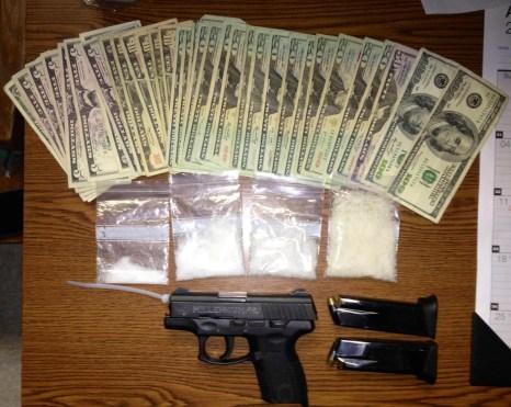 Crystal Meth, Money & Gun