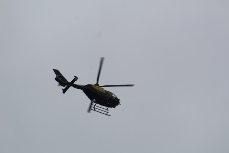 Credit: Police Hour. Police Helicopter above.