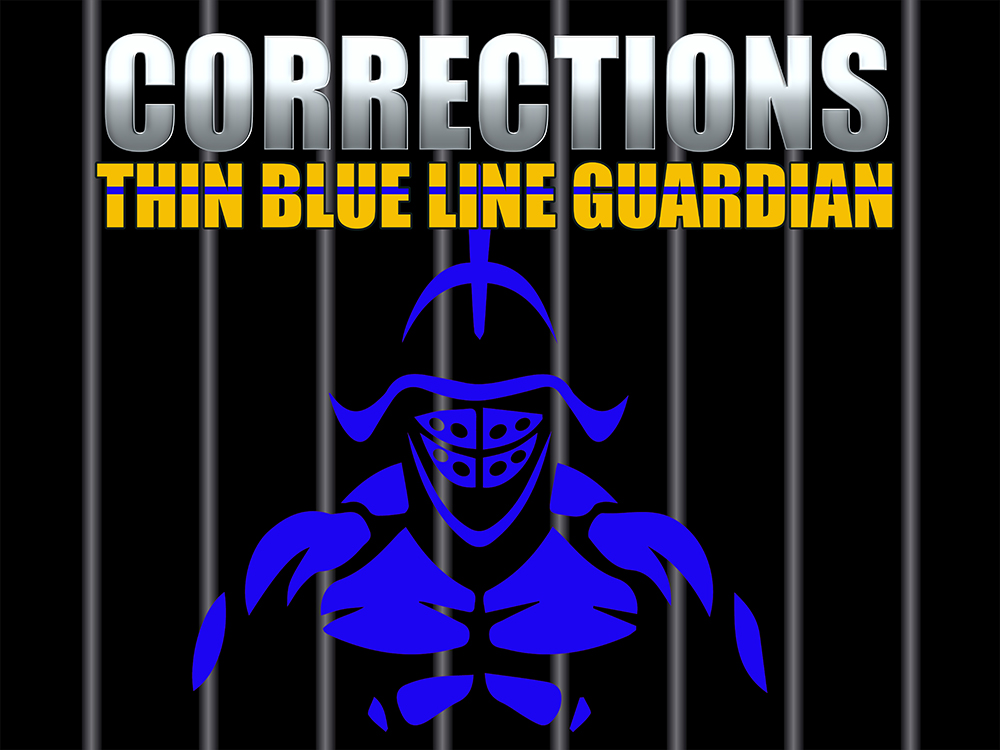 Thin Blue Line Correctional Officer Poster