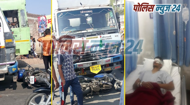 the-motorcycle-driver-was-seriously-injured-in-the-accident-of-a-tanker-and-a-motorcycle
