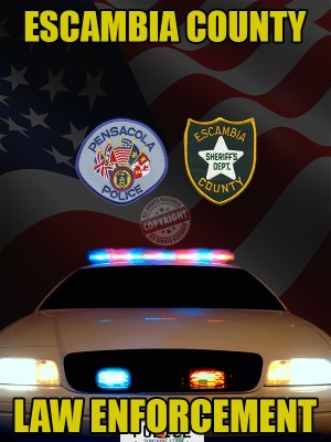 ESCAMBIA COUNTY FLORIDA LAW ENFORCEMENT POSTER