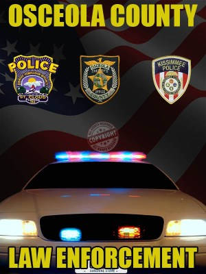 Osceola County Florida Law Enforcement Poster