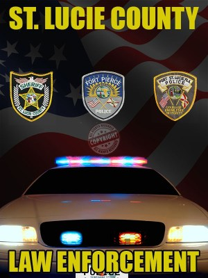 ST.Lucie County Florida Law Enforcement Poster