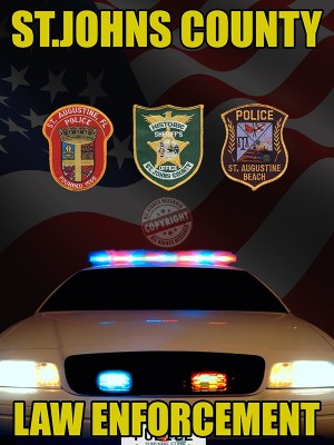 St.Johns County Florida Law Enforcement Poster