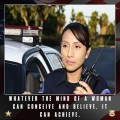 Home motivation female police officer poster mind of a woman