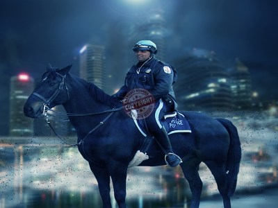 MOUNTED POLICE POSTER