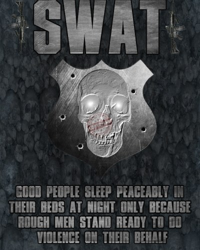 Swat Team Poster Rough Men Skull