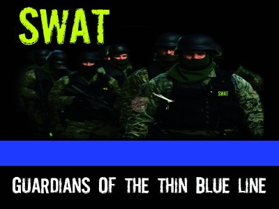 thin blue line swat poster