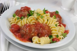 police psychology, pasta with meatballs