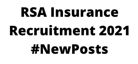 RSA InsuranceRecruitment 2021