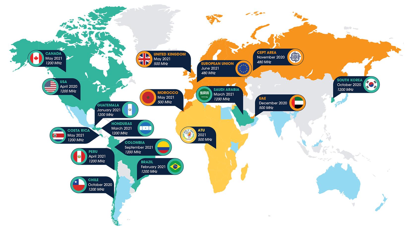 Wi-Fi 6E World Map