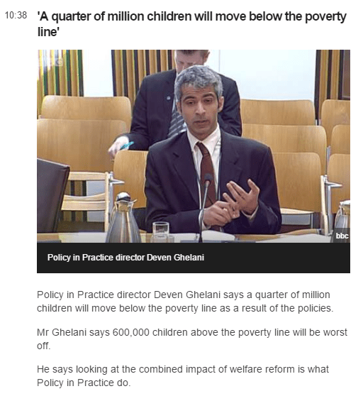 Policy in Practice director Deven Ghelani giving evidence to Scottish Parliament Social Security Committee on 25 May 2017