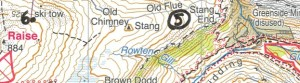 switchback and ski tow-map view
