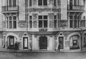 Entrén till Riche 1912 vid Nybrogatan 3 Klubben Brunkeberg