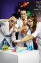 как на детском химическом шоу проводят опыты с жидким азотом