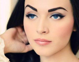 Вечерний макияж в технике двойная петля