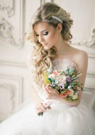 Свадебный макияж с выделением глаз