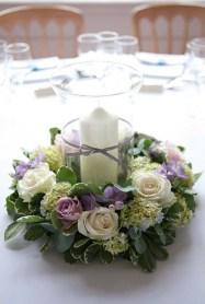 Малая композиция со свечей на гостевые столы