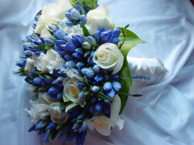 Голубой букет дублер невесты