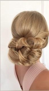 Прическа невесты крупная коса собранная в низкий пучок