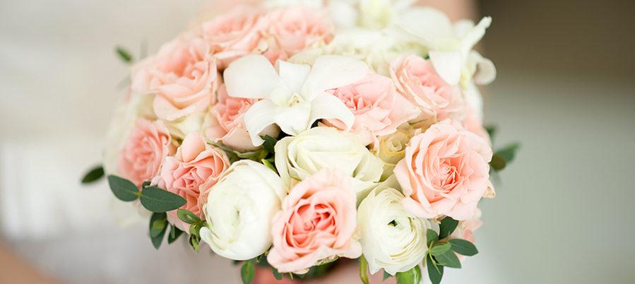 букет невесты в розовом цвете