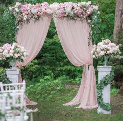 Оформление свадьбы золотом