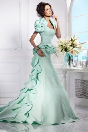 Образ невесты для свадьбы в голубом цвете