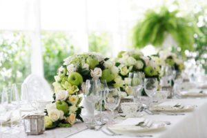 Оформление свадьбы в зеленом цвете Долгопрудный