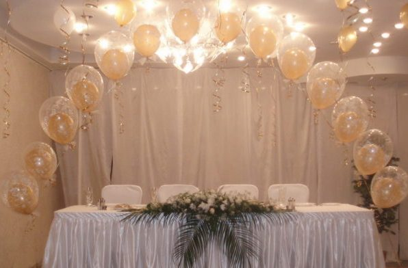 Оформление свадьбы шарами недорого Москва