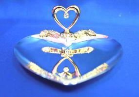 Блюдце сердце для свадебных колец